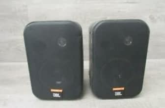 Pair Of JBL Black Bookshelf Speakers Control IX Tested JBL