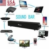 Sound Bar TV Soundbar Wired & Wireless Bluetooth Home Theater TV Speaker NEW Foxnovo