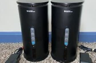 SET OF 2 AUDIO UNLIMITED 900MHz WIRELESS SPEAKERS + AC Adapters ONLY Audio Unlimited
