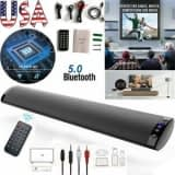 Bluetooth 5.0 Wireless Speaker TV PC Soundbar Subwoofer Home Theater Sound Bar Unbranded